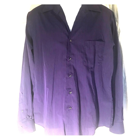 Men's Van Heusen purple striped dress shirt